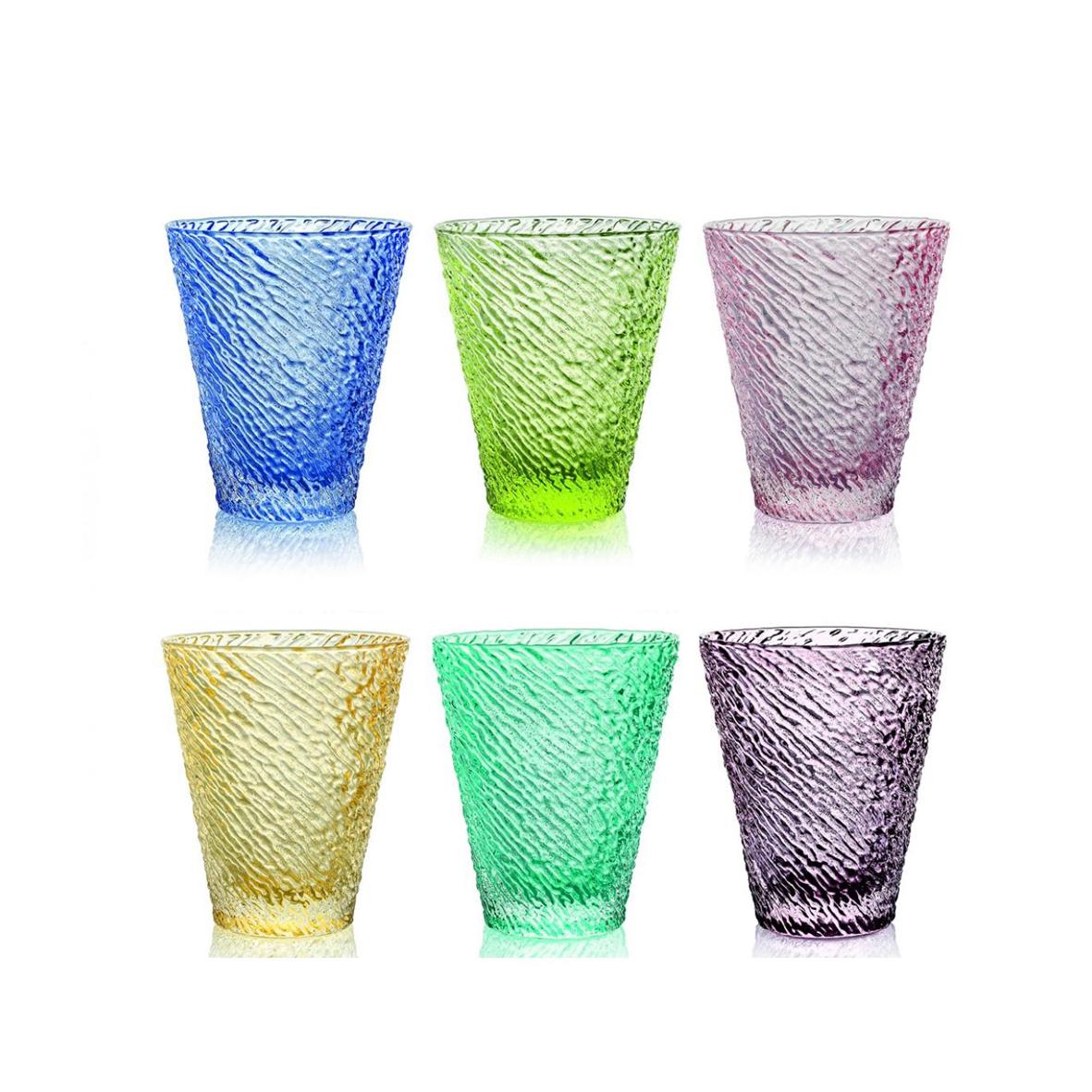 Set Bicchieri Multicolor Acqua Mod 3 Ivv Celiento Bomboniere